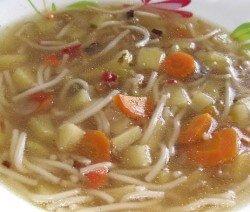Пилешка супа с картофи