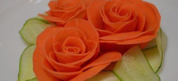 Роза от морков