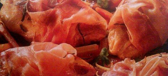 пилешки гърди в було от шунка