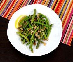 салата от зелен фасул и риба тон